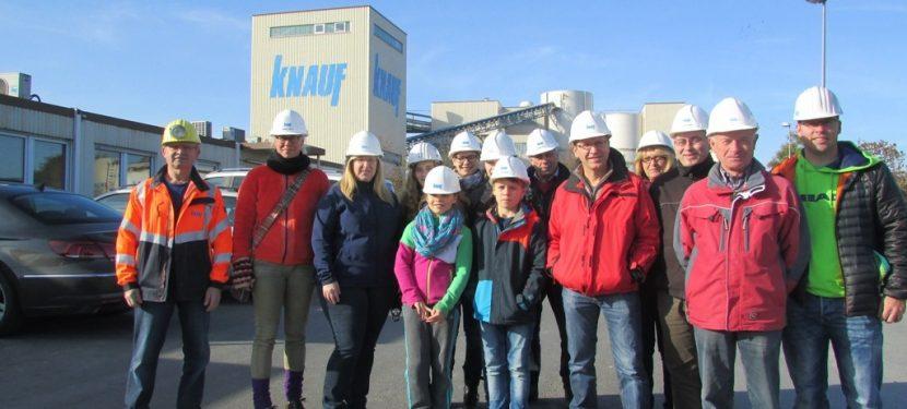 Führung in das Untertagebergwerk der Firma Knauf