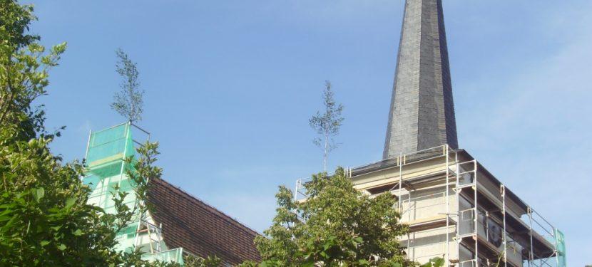 Vor 10 Jahren: Blick über die Dächer von Hellmitzheim