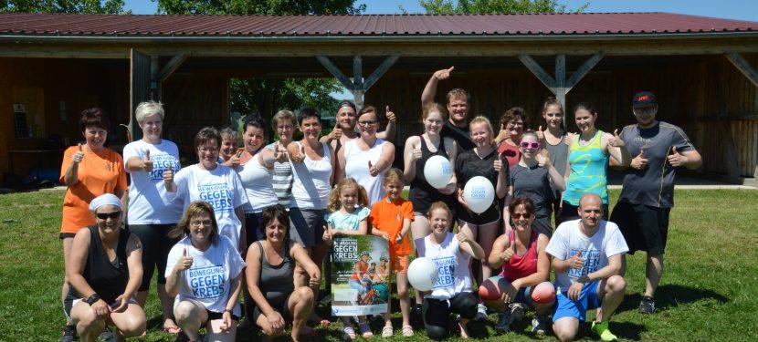 "1. Hellmitzheimer Sporttag unter dem Motto ""Bewegung gegen Krebs"""