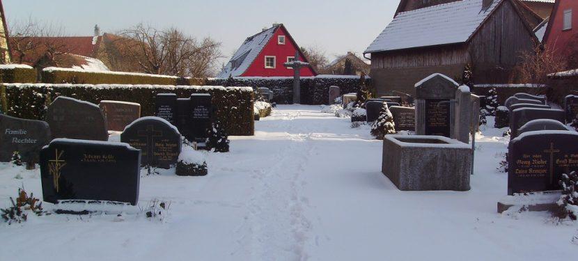 Mitteilung der Friedhofsverwaltung
