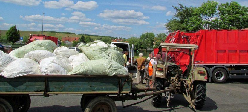 Sammlung von Erntekunststoffen und Pflanzenschutzmittelverpackungen